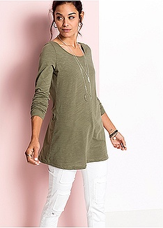 Μπλούζα με λαιμόκοψη χαμόγελο Πράσινο σκούρο RAINBOW  4714088db5a