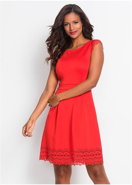 Φόρεμα με διάτρητο σχέδιο Κόκκινο ανοιχτό BODYFLIRT boutique  3f7e86def09