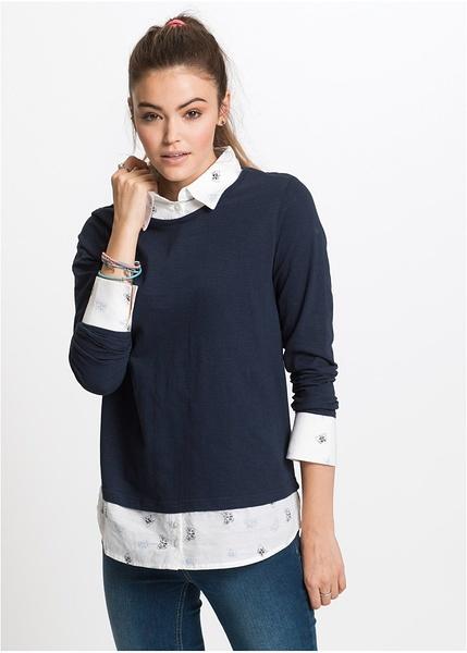 Μακρυμάνικη μπλούζα και πουκάμισο 2 σε 1-RAINBOW 9f76973e102