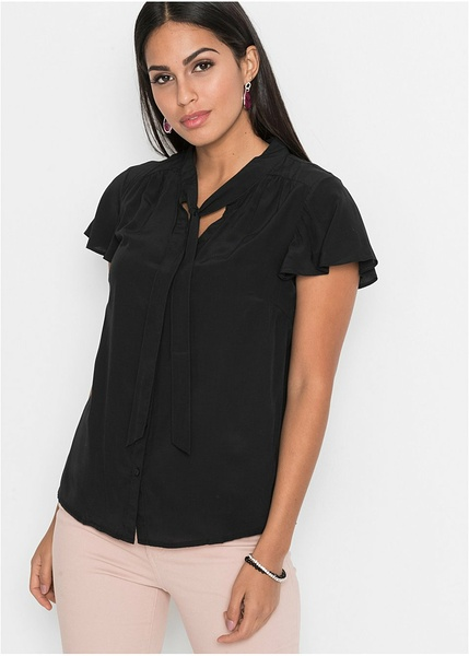 358b73618d0b Κοντομάνικο πουκάμισο με φιόγκο-BODYFLIRT