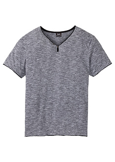 t-shirt-melanze-me-laimokopsi-tupou-v-regular-fit-bpc bonprix collection