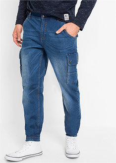 Ελαστικό τζιν cargo regular fit straight-John Baner JEANSWEAR